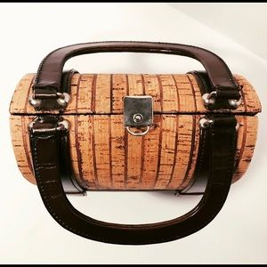 Tano of Madrid Vintage Cork and Leather Purse